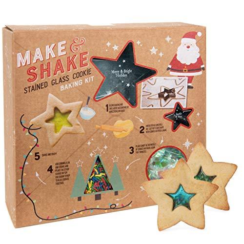 Modern Gourmet Foods - Backmischung für Kekse mit Glasmalerei-Optik - Weihnachtliches Geschenkset zum Backen - 416 g
