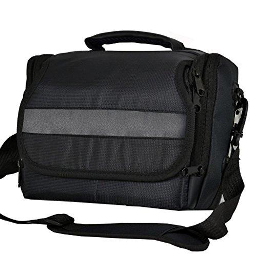 Cámara réflex digital bolsa bandolera de lona para Nikon D800 D800E D90 (negro)