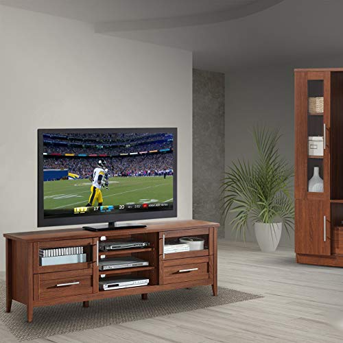 Urban Designs Modern TV Stand with Storage for TVs Up to 75