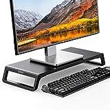 ORICO Support d'écran en bois antidérapant pour TV, PC, ordinateur portable, imprimante - 56,4 x 21,1 x 7,5 cm - Charge maximale : 15 kg (noir)