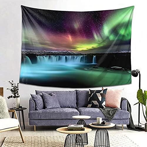 FOURFOOL Tapiz,La Cascada Aurora Ful,Decoración de la Pared Manta Arte de la Pared Tapiz Dormitorio Sala de Estar Toalla de Playa