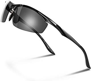 Glazata 偏光サングラス UV400 紫外線カット 超軽量 メタルフレームスポーツサングラス ドライブ/野球/自転車/釣り/ランニング/ゴルフ/運転 男女兼用