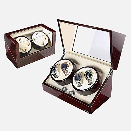 Living Equipment Watch Winder Box Automatische Watch Winder Box Watchwinder Automatische Box Mit 6 Speichersteckplätzen 5 Modi Holzschale Klavierlack Glänzender Uhrenbeweger Automatisch (Farbe: Rot