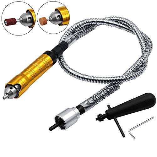 BESTEU 6 Millimetri Amoladora Eléctrica Eje de Extensión de Taladro Flexible Suave Con 0.5-6.5 Mm Chuck Clave Por Molino Rotativo herramienta