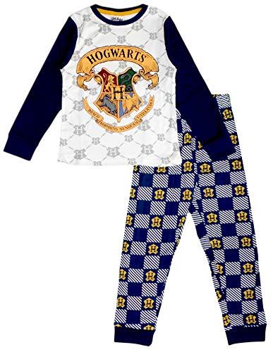 Pijama de algodón de manga larga para niños y adolescentes de Harry Potter Multicolor multicolor 6 años