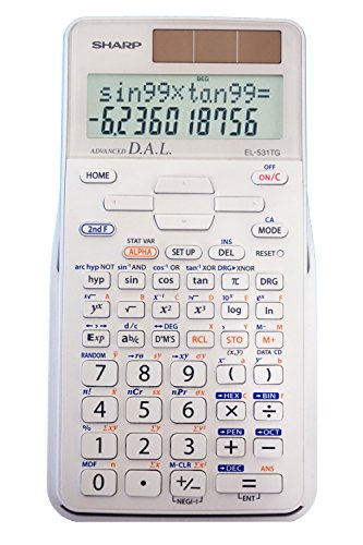 Sharp EL-531TGBDW 12-Digit Scientific/Engineering Calculator with Protective Hard Cover