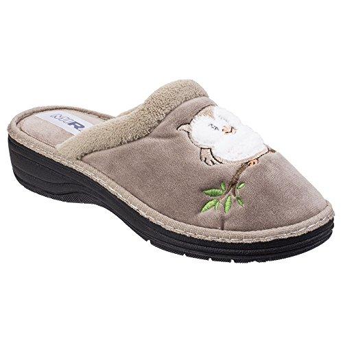 Mirak - Zapatillas de Estar por casa Abiertas Modelo Tawny para Mujer (36 EU) (Beige)