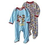 Paw Patrol Baby toddler 2 Pack Footed Blanket Sleeper Pajamas 0-6m