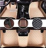 Muchkey Auto Tapetes de Piso Alfombra para Toyota Avalon 2000-2005 de Cuero Interior Automotriz Alfombrillas Beige
