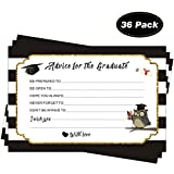 Joyseller 2020 Graduation Advice Cards (36 Pack) - Well Wishes Cards for Graduates - High School or College Graduation Party Supplies - Game Activity Cards
