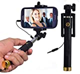 VOLTAC AUX Wired Selfie Stick Handheld Monopod Extendable Fold Selfie Stick for Smartphones