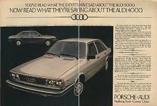 1979 AUDI 4000 & 5000 SEDAN COLOR AD - USA - DOUBLE PAGE - REVIEW MAGAZINE