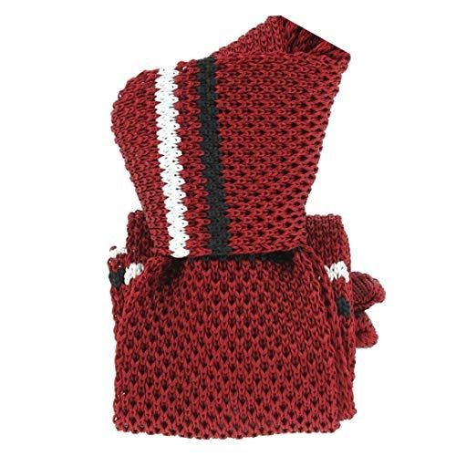Clj Charles Le Jeune. Cravate tricot. Club charles, Microfibre. Rouge, Club/rayé.