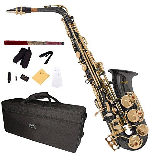 Mendini MAS-BNG para saxofón Alto - negro/dorado