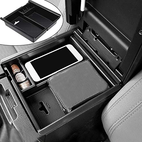 anngrowy Compatible with Toyota Tacoma Accessories 2016-2020 2019 2017 2018 2021 Center Console Accessory Organizer Insert ABS Black Materials Organizer Tray Armrest Box Storage Box Secondary