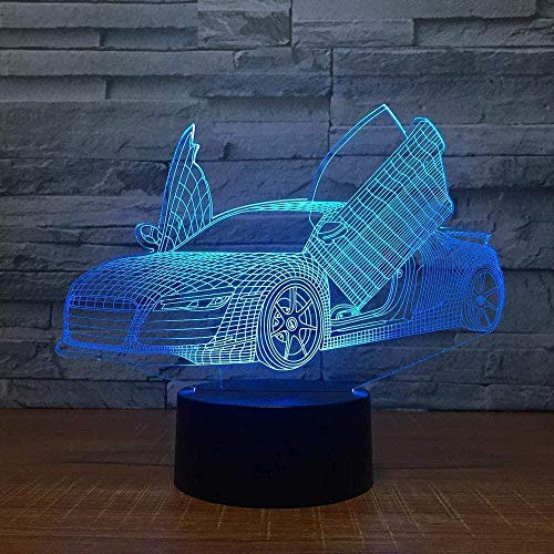 3D Night Light Led Scissors Door 7 Color Night Lamps for Kids Touch USB Table Lamps Sleeping Night Light 3D Lamp