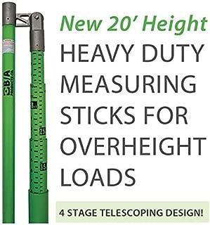vehicle height measuring pole