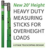 BA Products Ships in 1 to 2 Business Days BA-MS20 20' Load Height Measuring Stick with Standard & Metric Measurements for Trucks, Trailers, Vehicles