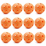 Set of 12 Orange Regulation Size Practice Baseballs - Play Ball Or Train Swinging The Bat - Optimized for Maximum Accuracy and Durability - Perfect for Coaching, Playing, or Practicing