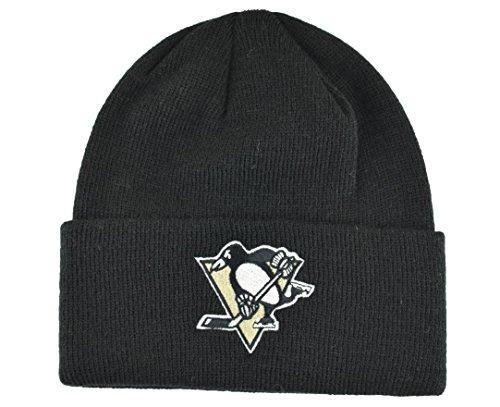 Pittsburgh Penguins Beanie-Mütze, schwarze Manschette – NHL Manschetten Winter Knit Toque Cap
