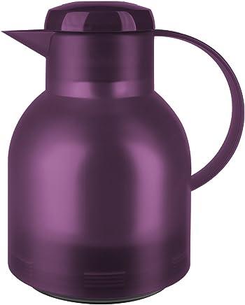 Emsa 505490 Samba Isolierkanne (1 Liter, Quick Press Verschluss, 12h heiß, 24h kalt) aubergine preisvergleich bei geschirr-verleih.eu