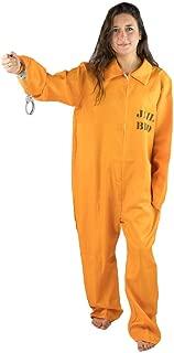 Inmate Prisoner Mens Jail Costume (Large)