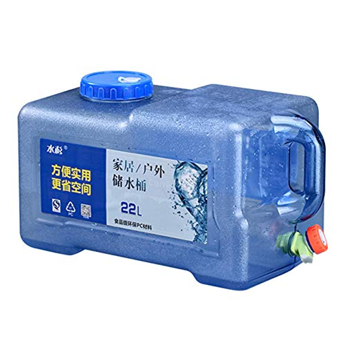 Makeover 22L Recipiente De Agua para Beber Agua del Grifo Jerrican Recipiente para Acampar con Grifo para Exteriores, Senderismo, Conducción Autónoma