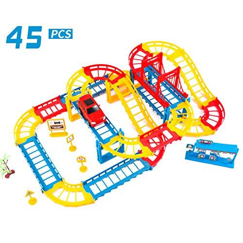 Auto's Tech Gebouw Sets Stad Super Voertuigen Ontwikkeling Speelgoed Racen Voor Voorschoolse Kinderen Creativiteit Leerzaam Blokken Bouw Het Leren Spellen,Color rail car (color box)