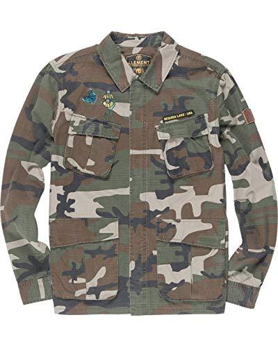 Element - Giacca Camicia Leggera - KERSHNAR - Camouflage - Ricami - (L)