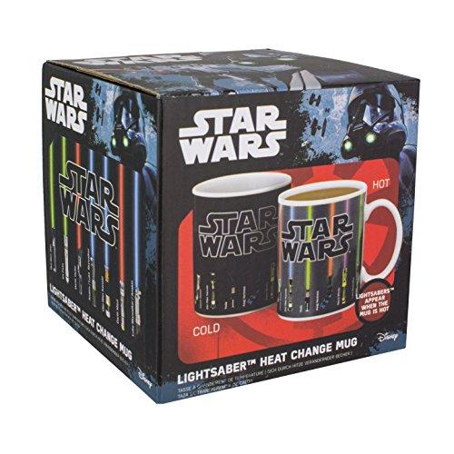 Paladone Farbwechsel-Tasse Star Wars Lichtschwert, Farbänderung bei Temperaturwechsel, Mehrfarbig