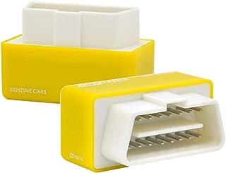 Bosmutus Yellow Eco OBD2 USB Scanner Fuel Saver Economy OBD2 Petrol Car Chip Tuning Box for Benzine 15% Fuel Saver Plug & Drive Lower Fuel and Lower