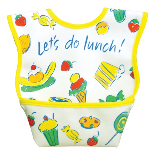 Dex Baby Dura Bib - Stage 1 - Small 3 - 12 Months (Let's Do Lunch)