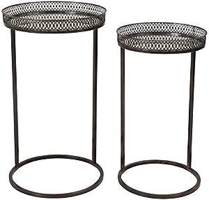COTE TABLE Insieme di 2guédons impilabili a specchi lato tavolo