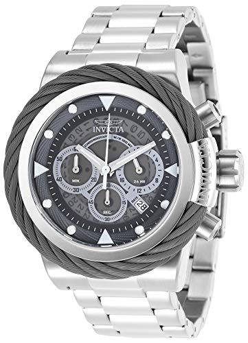Invicta Men's Bolt Quartz Watch with Stainless-Steel Strap, Silver, 24 (Model: 27796)