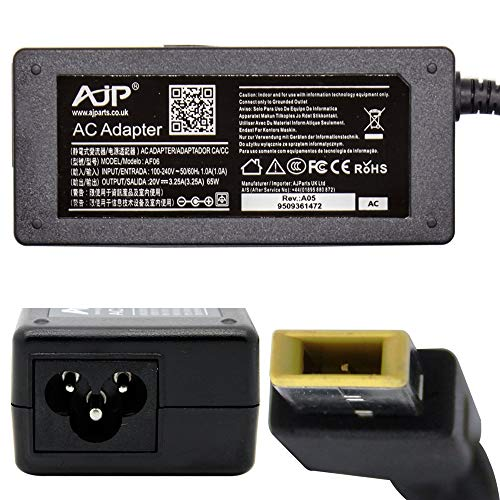Wikiparts NEW AJP AC CHARGER FOR IBM LENOVO 0B47459 20V 3.25A 65W ADAPTOR POWER SUPPLY