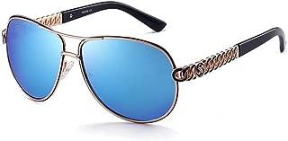 SGJFZD Female PC Material Sunglasses Fashion Frame Sunglasses Ladies' UV Sunglasses (Color : Blue)