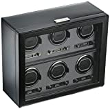 Wolf Designs 456802 Module 2.7 6PC Watch Winder with Cover