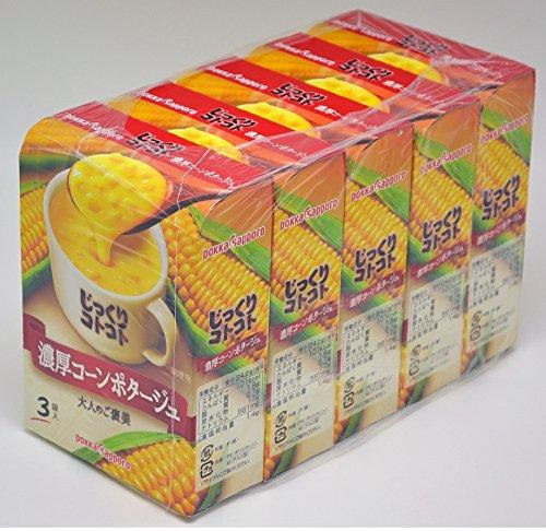 『ポッカサッポロ じっくりコトコト 濃厚コーンポタージュ 3食入×5箱』のトップ画像