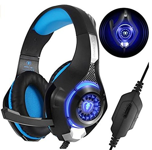 Gaming Headset für PS4 PC Xbox One, Beexcellent Komfortable  Crystal Clarity Sound Professional Kopfhörer mit Mikrofon für Laptop Mac Handy Tablet