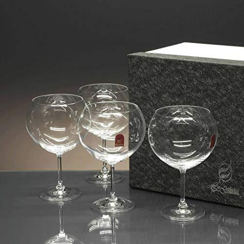 la galaica | - Set de 4 Copas de Cristal para Gin Tonic y Combinados | Copa de balón Ideal para Regalar a Amigos o Familiares | Gin&Tonic | Incluye Estuche de protección | Envío Rápido