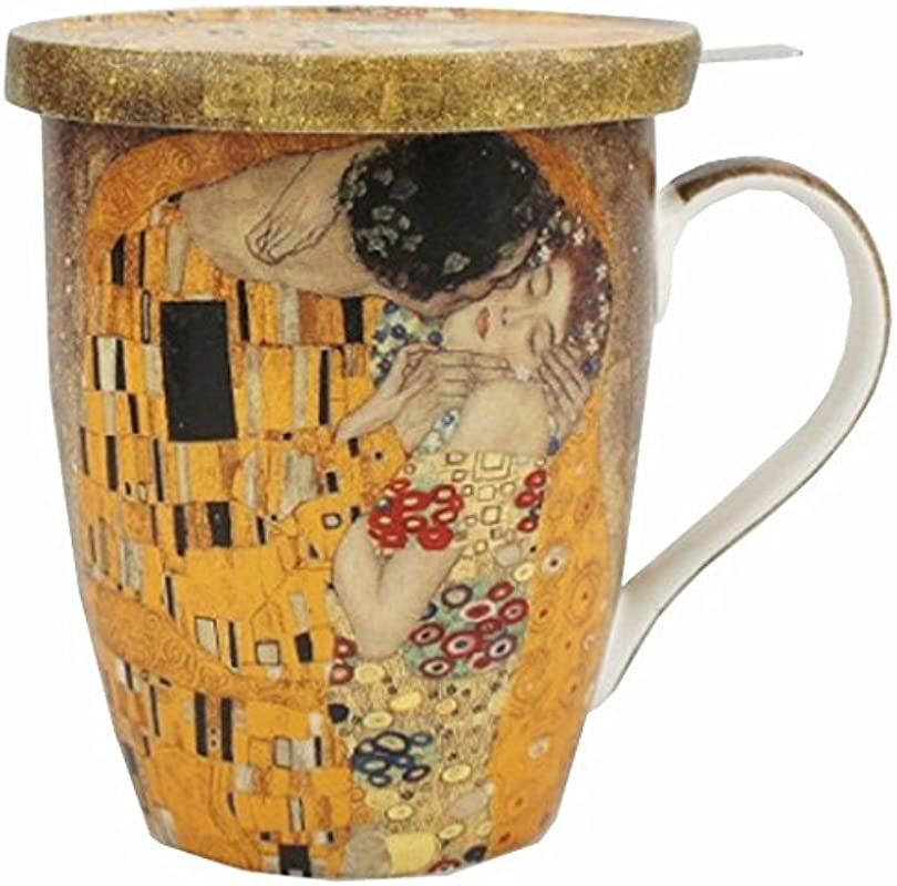 McIntosh Trading Tea Mug W Infuser Lid Klimt S The Kiss