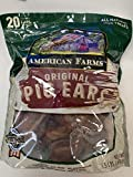 AMERICAN FARM'S Original Pig Ears for Dogs 20 Count