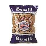 Benelli- Amaretti - Galletas- Bollos de Almendras Molidas- Producto Italiano por Excelencia- 300 Gramos