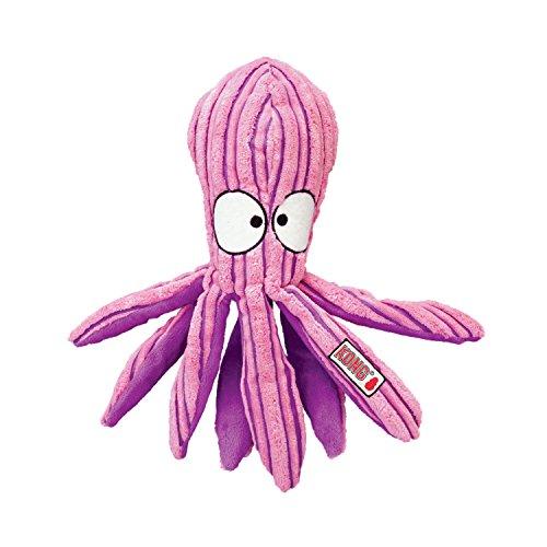 KONG – CuteSeas Octopus – Hundeplüschtier aus Kordsamt – Für Kleine Hunde