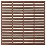 vidaxl recinzione a persiana per esterni con pali robusta elegante barriera pannello da giardino recinto intimità sicurezza in wpc 170x170 cm marrone