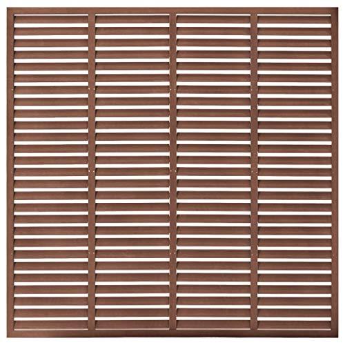 vidaXL Lamellenzaun für Außenbereich, Terrasse, Sichtschutz, Zaunpaneel, WPC, 170 x 170 cm, Braun