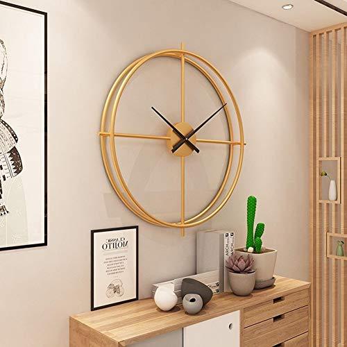 WJY Lujo Relojes de Pared 3D Retro del Reloj de Pared del Engranaje del Reloj de Pared de Madera de los números Romanos Diseño for el hogar Sala de Estar Decoración 50CM