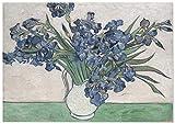 Panorama Póster Van Gogh Lirios 30x21 cm - Impreso en Papel 250gr - Póster Pared - Láminas para Enmarcar - Cuadros Decoración Salón - Pósters Decorativos - Cuadros Modernos