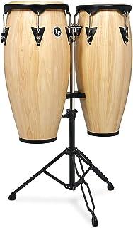 """ست لاتین Percussion LP City Wood Congas 10 """"& 11"""" مجموعه - پایان طبیعی ساتن"""