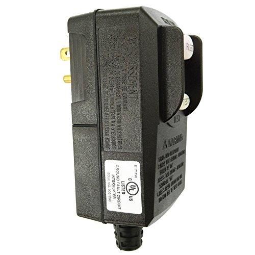WELLONG GFCI Plug Replacement 15 Amp 3 Prong GFI Waterproof Circuit Breaker UL Listed for Pressure Washer Pool Pump Hair Dryer etc Black, Medium